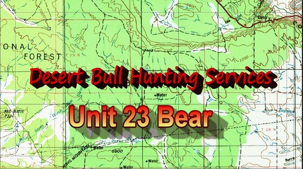 Map Of Unit 23 Arizona.Unit 23 Bear Desertbull Hunting Services