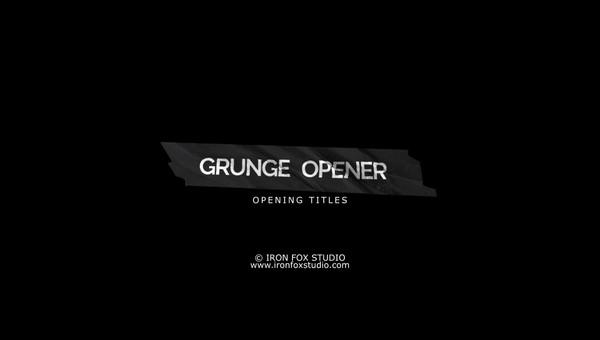 Grunge Opener - Vegas Pro 13 Template
