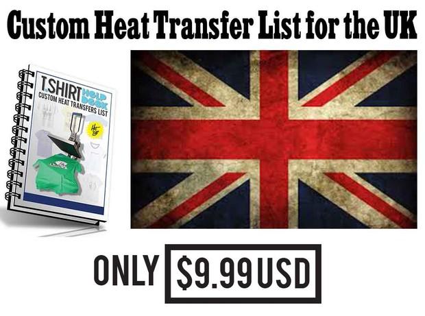 UK Custom Heat Transfers List
