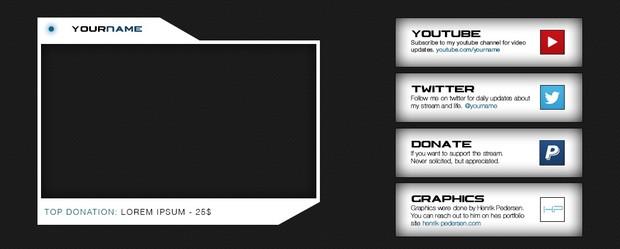 Twitch | Cam Frame and Description Tiles - Pack#2