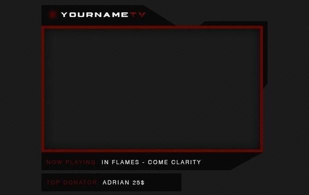 Twitch   Cam Frame Black/Red