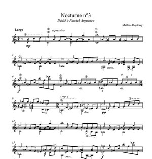 Nocturne n°3 - Score / Partition