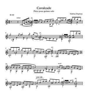 Cavalcade - Score / Partition