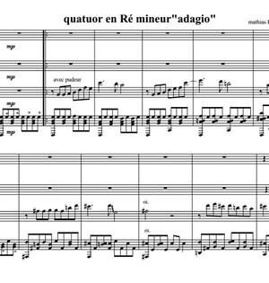 Quatuor pour Guitare en Ré Mineur - Score / Partition