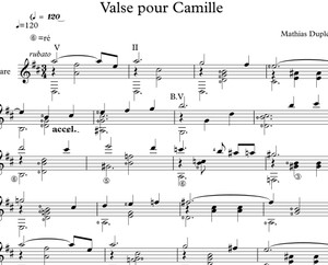 Valse pour Camille - Score / Partition