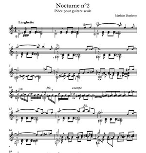 Nocturne n°2 - Score / Partition