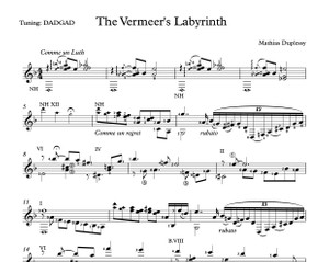 The Vermeer's Labyrinth - Score / Partition