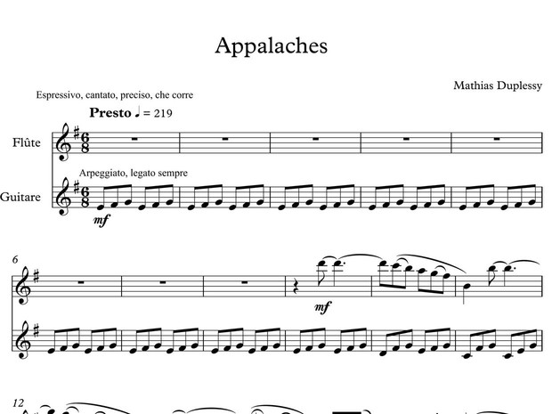 Appalaches - Score / Partition