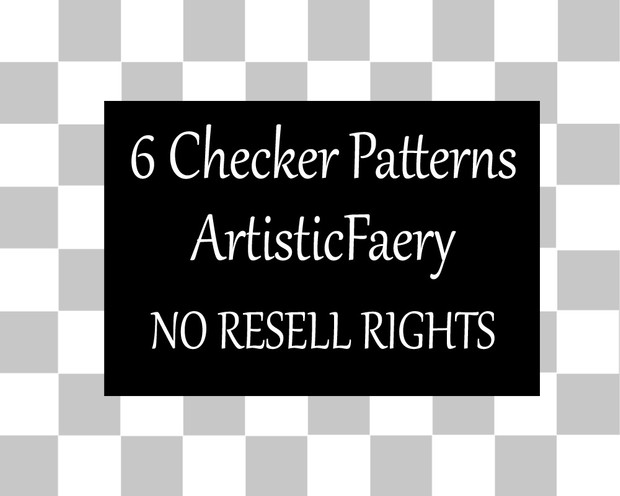 6 Checker Patterns for Digital Art