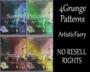 4 Grunge Textures for Digital Art