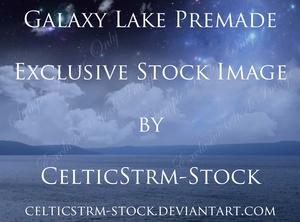 Galaxy Lake Premade Background
