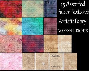 15 Assorted Paper Textures