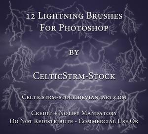 Lightning Photoshop Brushes