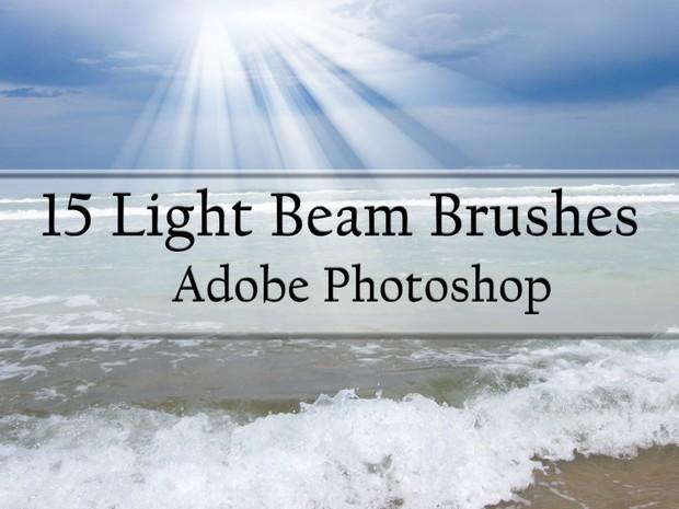 15 Light Beam Brushes for Photoshop