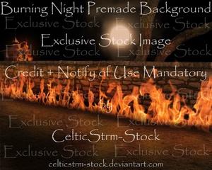Burning Nights Premade Background