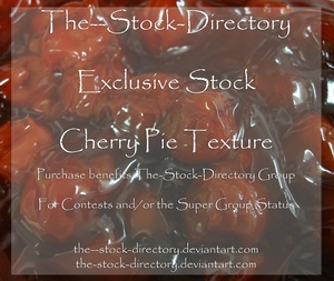 Cherry Pie Texture Stock Photo