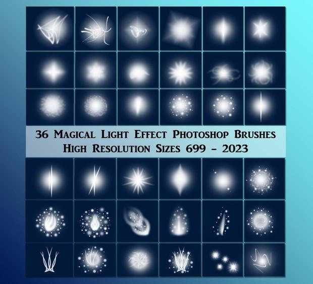 36 Magical Light Effect Photoshop Brushes