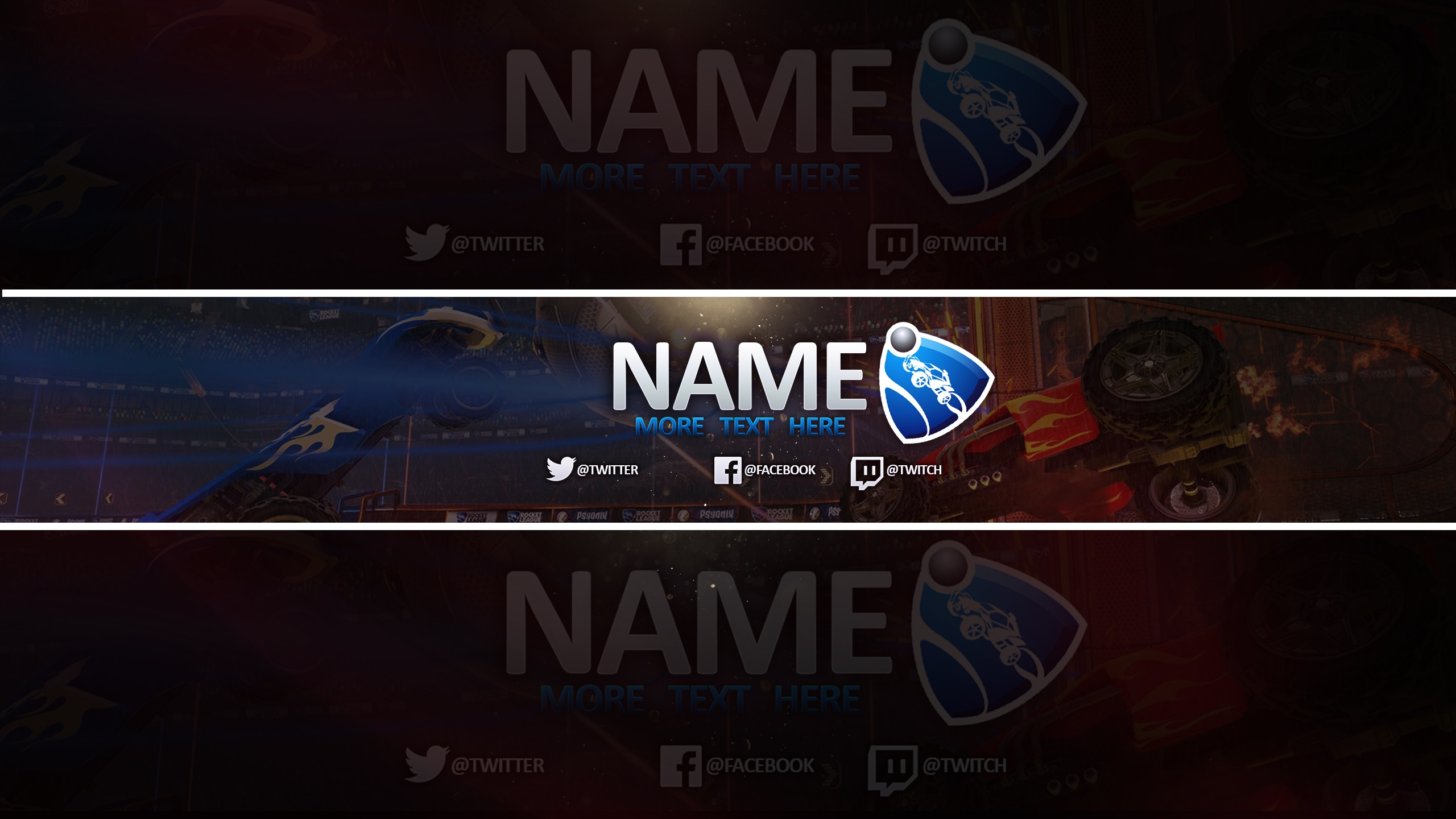Free Youtube Banner Template Rocket League