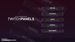 Twitch Panel Pack | Customisable Concept Design