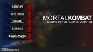Twitch Panel Pack | Mortal Kombat X - Second Variant