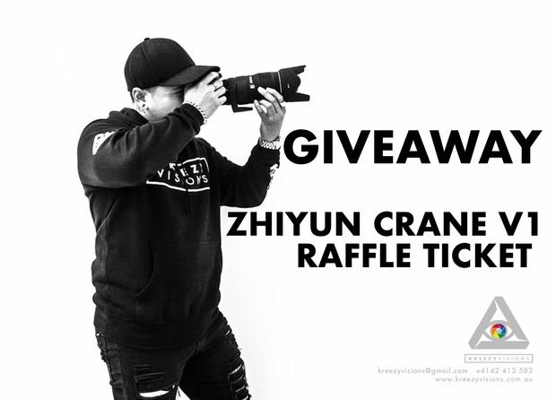 Giveaway Raffle Ticket   Win a Zhiyun Crane V1 Gimbal