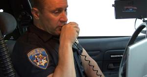 Police man on Radio