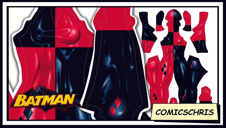 Harley Quinn comic pattern