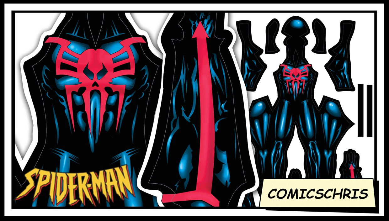 Spider-man 2099 comic pattern