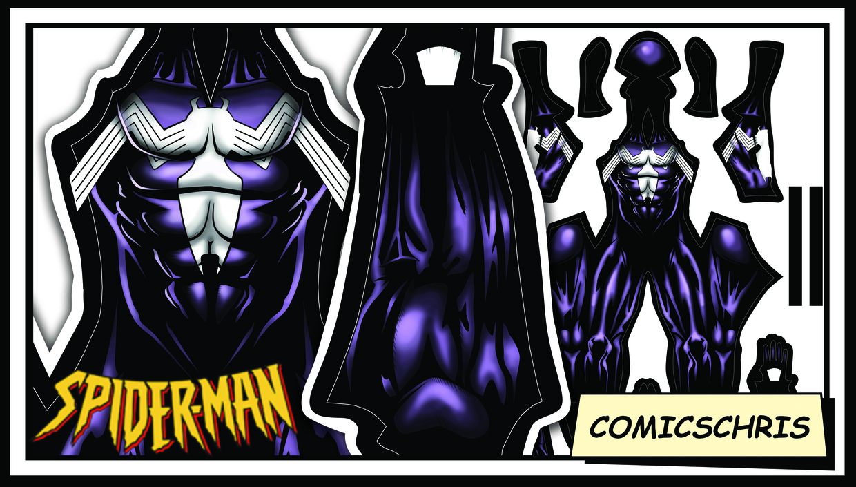 Spider-man comic symbiote purple pattern