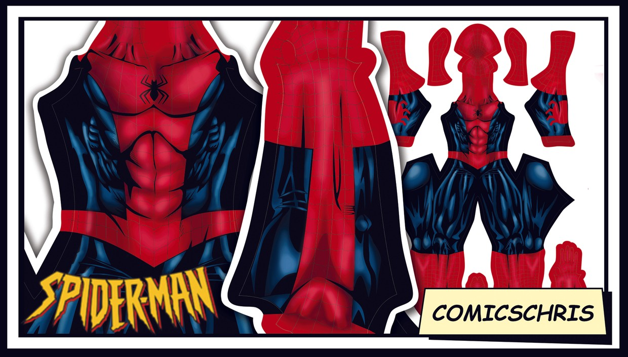 Spider-man comic pattern