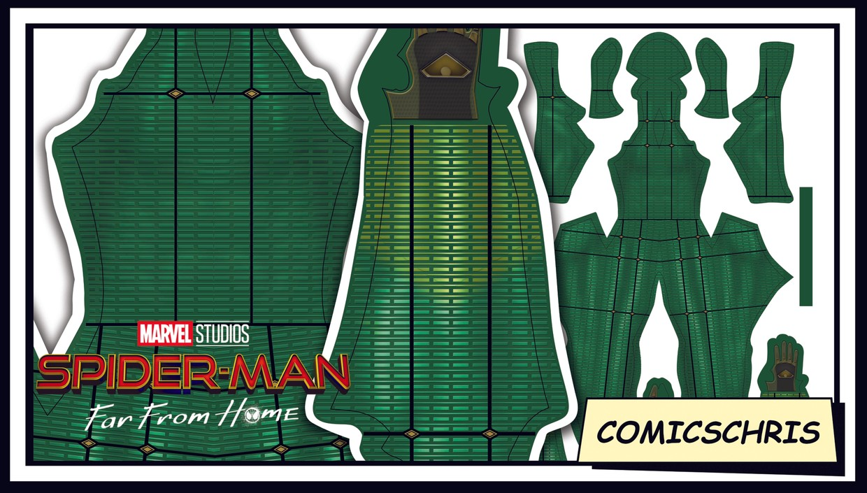 Spider-man Far from home Mysterio pattern