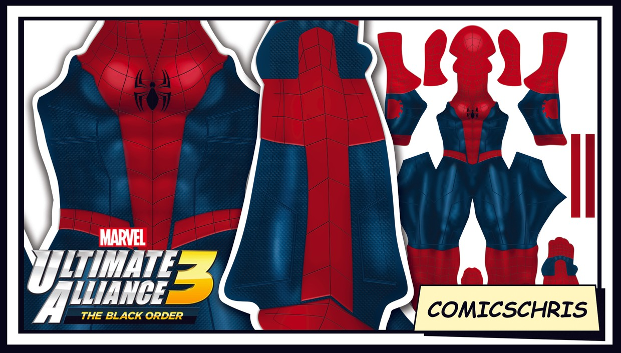 Spider-man Marvel ultimate alliance 3 pattern