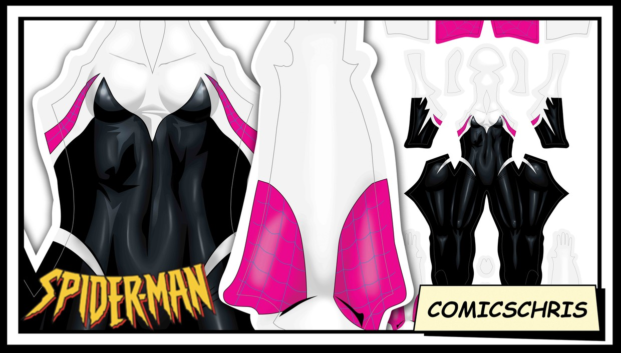 Spidergwen comic pattern