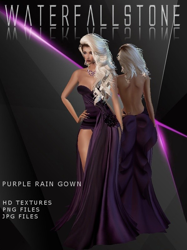 Purple Rain Gown