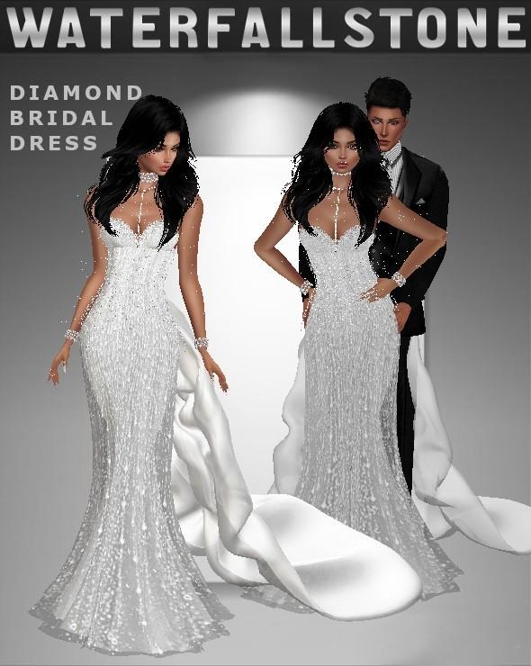 Diamond Bridal Dress