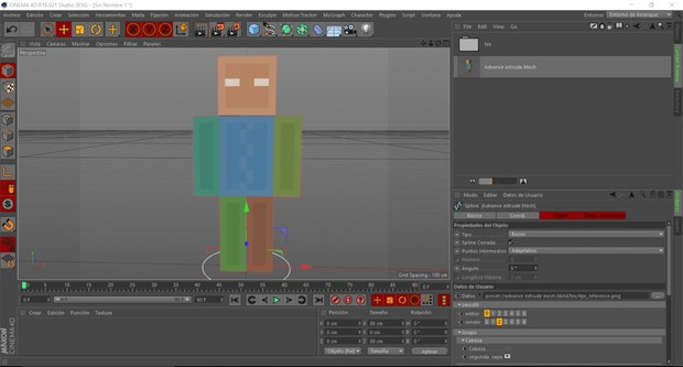 advance extrude mesh By:Core Fall