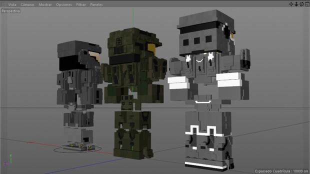 MC Halo ultimate armors (Gold eidition) (CInema 4D)
