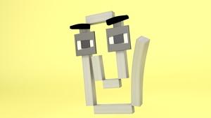 Minecraft Clppy Cinema4D