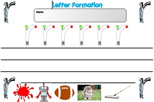 R AND H LETTER FORMATION