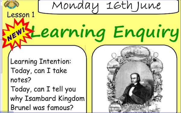 Literacy: Introduction to Brunel (SmartNotebook File)