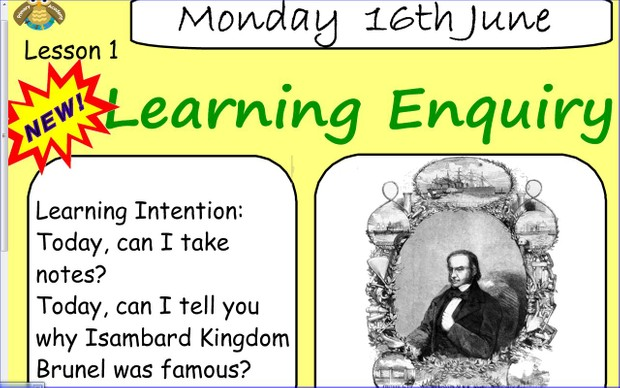 Literacy: Introduction to Brunel (SmartNotebook File)