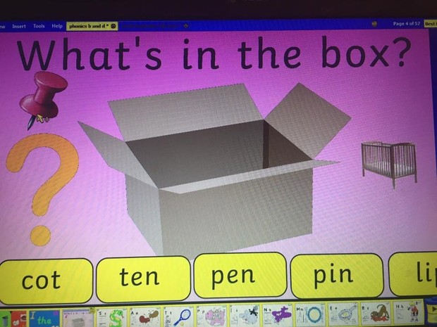 b and d phonics slides plus many games and activities