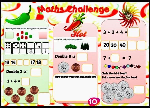 MATHS CHILLI CHALLENGE ACTIVITY