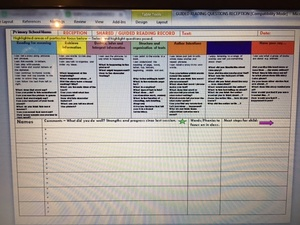 SHARED READING RECORDING / QUESTION SHEET