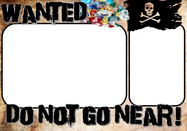 PIRATE MAPS AND WANTED POSTER FORMAT