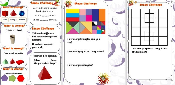 SHAPE CHALLENGES