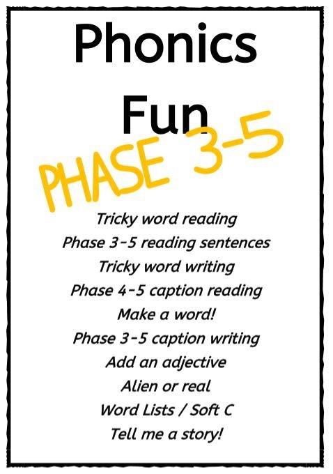 PHASE 3-5 PHONICS FUN PACK 1