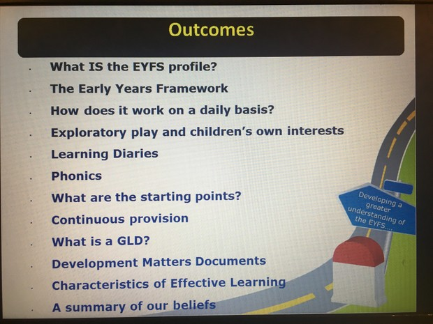 What is required from EYFS?