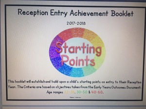 Achievement Record Booklet for EYFS / Reception Baseline