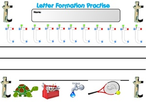 Letter formation sheets M AND T